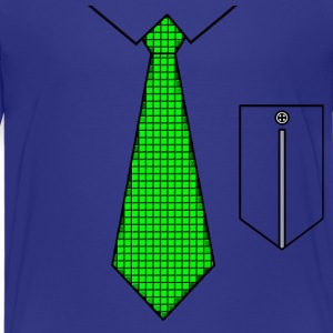 Green tie with pocket Shirts - Teenage Premium T-Shirt