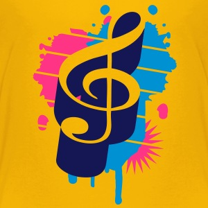 A clef as a graffiti Shirts - Kids' Premium T-Shirt