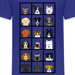 18 x dogs head Shirts - Kids' Premium T-Shirt