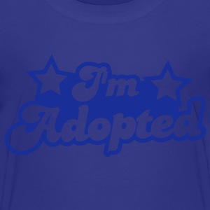 I'm adopted! super cute font with stars  Shirts - Kids' Premium T-Shirt