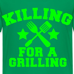 Cook Chef KILLING for a GRILLING MEAT steak BBQ Shirts - Kids' Premium T-Shirt