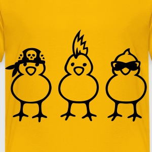 Three Chicks T-shirts - Premium-T-shirt barn
