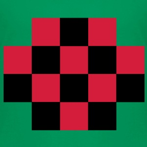 RED TARTAN gingham simple squares shape decoration Shirts - Kids' Premium T-Shirt