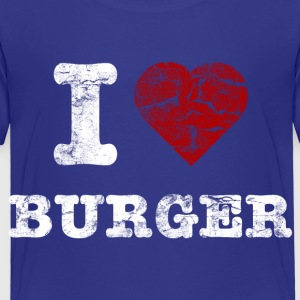 i love burger vintage light T-shirts - Premium-T-shirt barn
