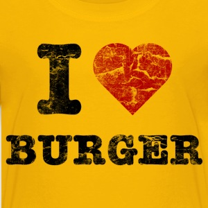 i love burger vintage dark T-Shirts - Teenager Premium T-Shirt