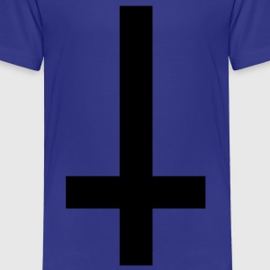 simple cross upside down Shirts - Kids' Premium T-Shirt