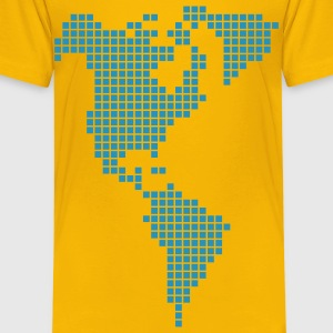 Yellow America Shirts - Kids' Premium T-Shirt