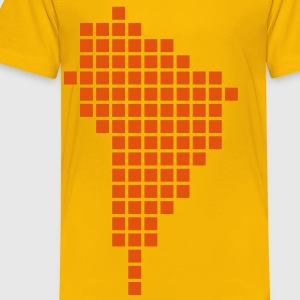 Yellow South America Shirts - Kids' Premium T-Shirt