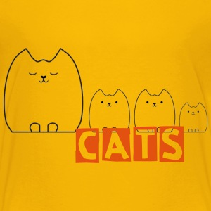 Cat and Kittens Shirts - Kids' Premium T-Shirt