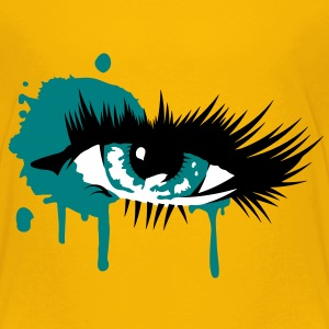 A colored eye with long eyelashes Shirts - Kids' Premium T-Shirt