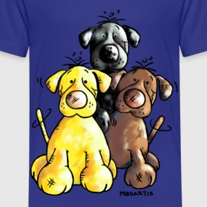 Labrador Retriever - dog - hund  Skjorter - Premium T-skjorte for barn