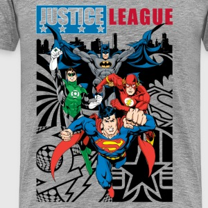 Justice League Comic Cover T-Shirt für Männer  - Männer Premium T-Shirt