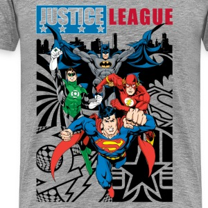 Justice League Comic Cover T-shirt til herrer - Herre premium T-shirt