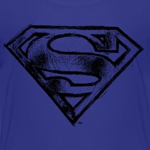Superman S-Shield Hand-Drawn T-shirt barn - Premium-T-shirt barn