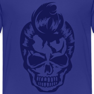 A skull with a rockabilly haircut Shirts - Kids' Premium T-Shirt