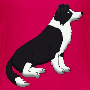 Border Collie black and white T-shirts - Premium-T-shirt barn