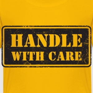 Handle With Care - Grungy Distressed Look - Kids' Premium T-Shirt