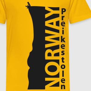 Norway Preikestolen HQ Travel Edition Shirts - Kids' Premium T-Shirt