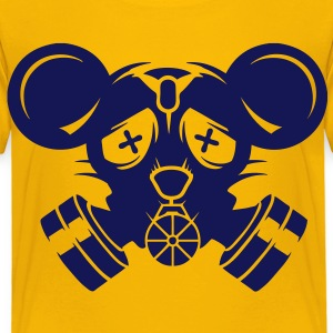 A gas mask with big mouse ears Shirts - Kids' Premium T-Shirt