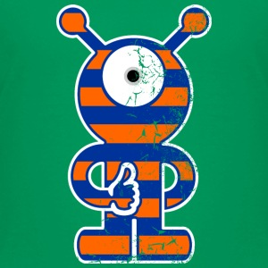 monster_outline_stripe_3c_scratch Camisetas - Camiseta premium niño