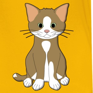babycat brown and white Tee shirts - T-shirt Premium Enfant