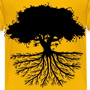 tree roots black Shirts - Kids' Premium T-Shirt