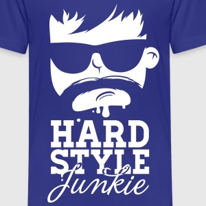 i love hardstyle dubstep moustache dance music Shirts - Kinderen Premium T-shirt