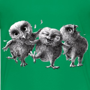 three crazy owls - Premium T-skjorte for tenåringer