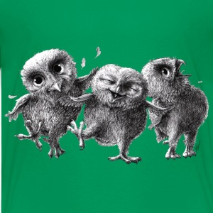 three crazy owls - Teenager premium T-shirt