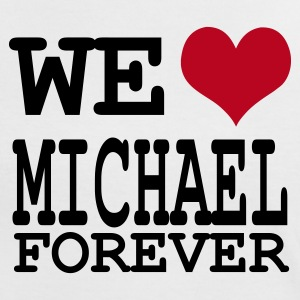 Weiß/rot we love michael for ever T-Shirts - Frauen Kontrast-T-Shirt