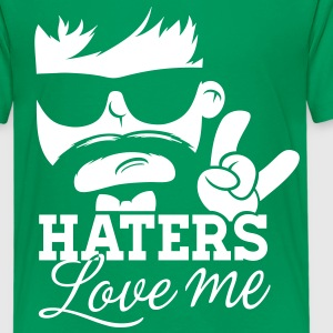 Like a haters love hate me moustache boss sir Shirts - Teenager Premium T-shirt