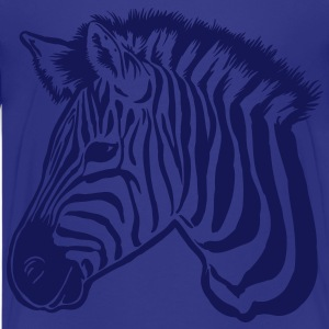 zebra dark Shirts - Teenage Premium T-Shirt