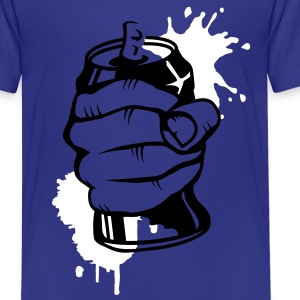 a hand crushing a soda can Shirts - Kids' Premium T-Shirt
