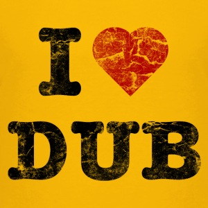 I Love DUB vintage dark Shirts - Teenage Premium T-Shirt