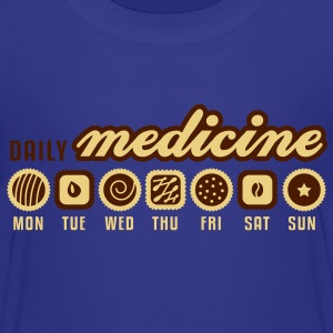 Royal blue Daily medicine of chocolate Shirts - Teenage Premium T-Shirt