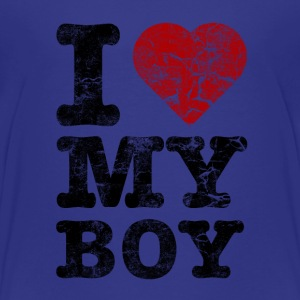 I Love my Boy vintage dark Shirts - Kids' Premium T-Shirt