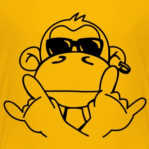 Cooler monkey with sunglasses Shirts - Kids' Premium T-Shirt