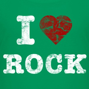 I Love Rock vintage light Shirts - Teenage Premium T-Shirt