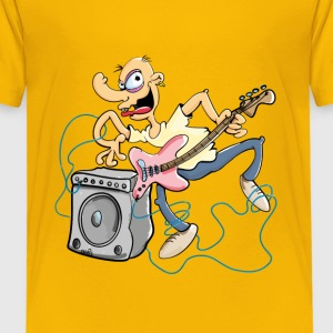 Crazy Bass Guitar Shirts - Kids' Premium T-Shirt