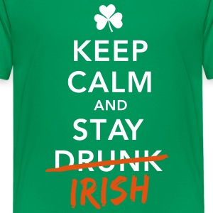 love keep calm drunk celtic irish st patricks day Shirts - Teenage Premium T-Shirt