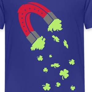 Horseshoe magnet with shamrocks Shirts - Kids' Premium T-Shirt