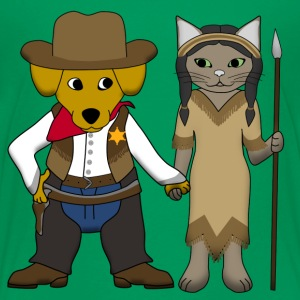 Sheriff dog and cat Shirts - Kinderen Premium T-shirt