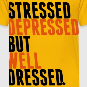 stressed depressed but well dressed Shirts - Kids' Premium T-Shirt