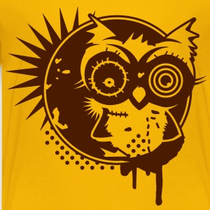 Graffiti Sticker with an owl - monochrome Shirts - Kids' Premium T-Shirt