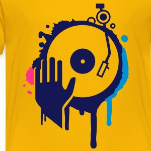 Hand scratching a record on a turntable Shirts - Kids' Premium T-Shirt