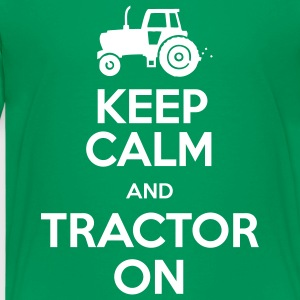 Keep Calm & Tractor On - Teenage Premium T-Shirt