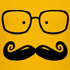 glasses and moustache Skjorter - Premium T-skjorte for barn