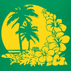 palm sunset ocean T-Shirts - Teenager Premium T-Shirt