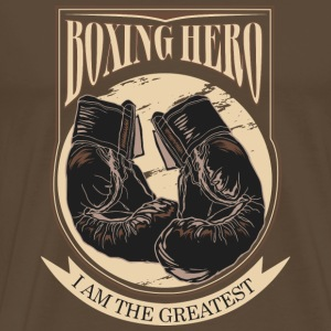 Boxing Hero - The Greatest - On Dark Camisetas - Camiseta premium hombre