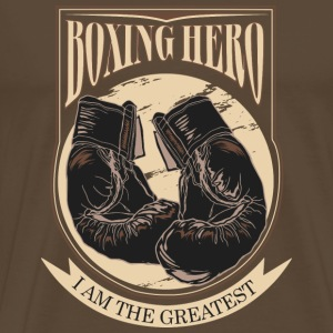 Boxing Hero - The Greatest - On Dark T-Shirts - Men's Premium T-Shirt